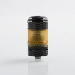 Hussar The End Style RTA Rebuildable Tank Atomizer - Black, 316 Stainless Steel + PEI, 3.5ml, 22mm Diameter