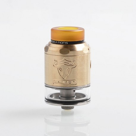 Authentic ThunderHead Creations THC Tauren RDTA Rebuildable Tank Atomizer w/ BF Pin - Brass, Brass + SS, 2ml, 24mm Diameter