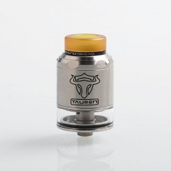 Authentic ThunderHead Creations THC Tauren RDTA Rebuildable Tank Atomizer w/ BF Pin - Silver, SS, 2ml, 24mm Diameter
