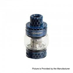Authentic XO Vapor Little Bee Sub Ohm Tank Clearomizer - Blue, Stainless Steel + Resin, 0.15ohm, 5ml, 24mm Diameter