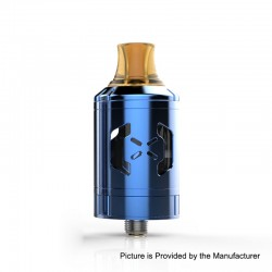 Authentic Hugsvape Chalice MTL RTA Rebuildable Tank Atomizer - Blue, Stainless Steel, 2ml, 24mm Diameter