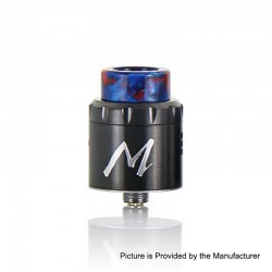 Authentic Tigertek Momentum RDA Rebuildable Dripping Atomizer w/ BF Pin - Gun Metal, Stainless Steel, 24mm Diameter
