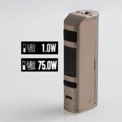 Authentic Jac Vapour Series-B DNA 75W TC VW Variable Wattage Box Mod - Silver, 1~75W, 1 x 18650