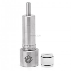 Rose V2 Styled RTA Rebuildable Tank Atomizer w/ Stand - 3.7ml, Stainless Steel, 22mm