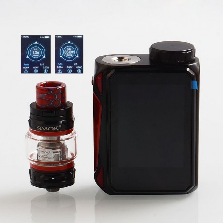 Authentic SMOKTech SMOK G-PRIV Baby 85W TC VW Box Mod + TFV12 Baby Prince Tank Kit - Black Red, 1~85W, 1 x 18650, 4.5ml