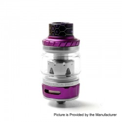 Authentic Tesla Tallica Mini Sub Ohm Tank Clearomizer - Purple, Stainless Steel + Aluminum Alloy, 0.18ohm, 6ml, 25mm Diameter