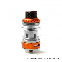Authentic Tesla Tallica Mini Sub Ohm Tank Clearomizer - Orange, Stainless Steel + Aluminum Alloy, 0.18ohm, 6ml, 25mm Diameter
