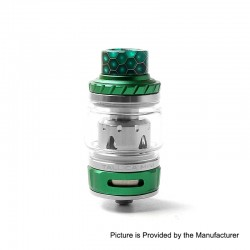 Authentic Tesla Tallica Mini Sub Ohm Tank Clearomizer - Green, Stainless Steel + Aluminum Alloy, 0.18ohm, 6ml, 25mm Diameter