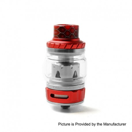Authentic Tesla Tallica Mini Sub Ohm Tank Clearomizer - Red, Stainless Steel + Aluminum Alloy, 0.18ohm, 6ml, 25mm Diameter