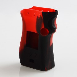 Vapesoon Protective Silicone Sleeve Case for SMOK Mag Mod Left Hand Edition - Black + Red