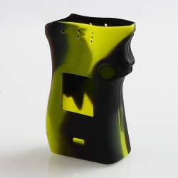 Vapesoon Protective Silicone Sleeve Case for SMOK Mag Mod Left Hand Edition - Black + Green