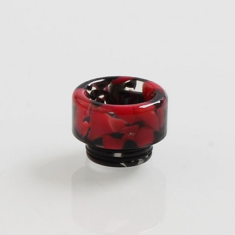 810 Replacement Drip Tip for TFV8 / TFV12 Tank / Goon / Kennedy / Reload RDA - Black + Red, Resin, 13mm