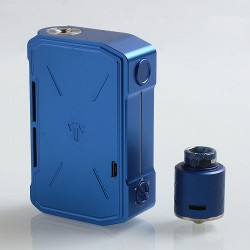 Authentic Tesla Invader IV 280W VV Variable Voltage Box Mod + RDA Kit - Blue, 3~8V, 2 x 18650 / 20700 / 21700
