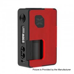 Authentic Vandy Vape Pulse X 90W TC VW Squonk Box Mod - Frosted Red, 5~90W, 1 x 18650 / 20700 / 21700