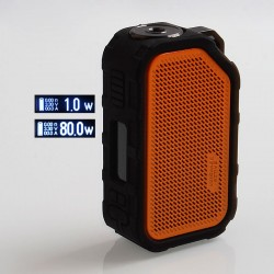 Authentic Wismec Active 2100mAh 80W TC VW Variable Wattage Box Mod - Orange, 1~80W
