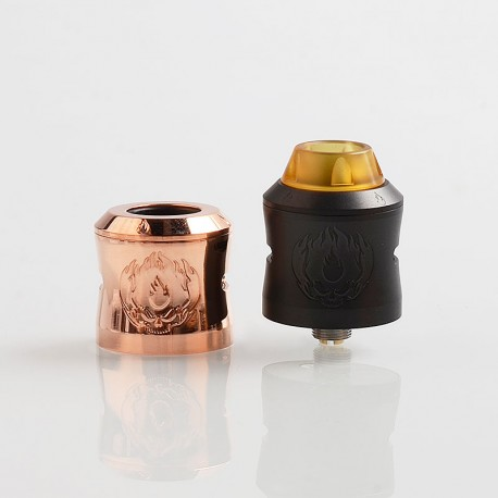 Authentic UltimaVape Banaspati RDA Rebuildable Dripping Atomizer w/ BF Pin - Black, Stainless Steel, 24mm Diameter