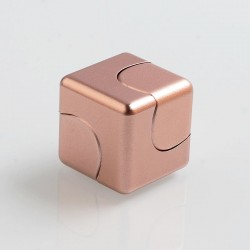 Magic Cube Style Hand Spinner Fidget Toy EDC - Rose Gold, Aluminum + Stainless Steel, R188 Bearing