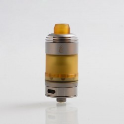 Coppervape Hussar Satin Style RTA Rebuildable Tank Atomizer - Grey, 316 Stainless Steel + PEI, 22mm Diameter