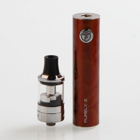 Authentic Fumytech Purely 2 1650mAh Starter Kit - Red, 0.7 Ohm / 0.9 Ohm, 2ml