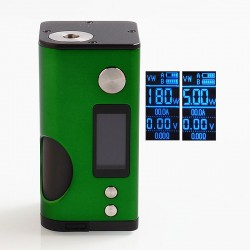 Authentic Dovpo Basium 180W VV VW Variable Wattage Squonk Box Mod - Green, Zinc Alloy, 5~180W, 2 x 18650, 6ml