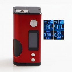 Authentic Dovpo Basium 180W VV VW Variable Wattage Squonk Box Mod - Red, Zinc Alloy, 5~180W, 2 x 18650, 6ml