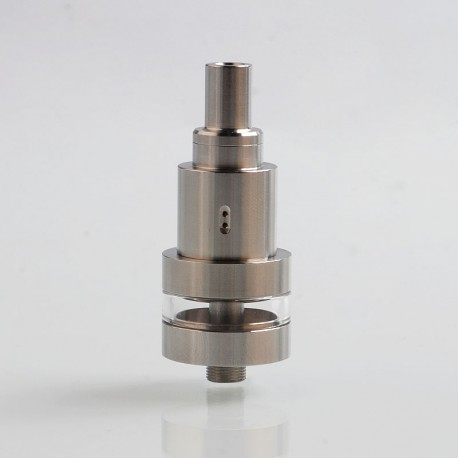 YFTK Sat22 Style RTA Rebuildable Tank Atomizer - Silver, 316 Stainless Steel, 3ml, 22mm Diameter