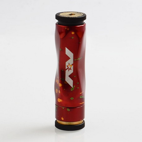 AV Gyre Slow Twist Style Hybrid Mechanical Mod - Red, Brass + Aluminum, 1 x 18650