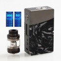 Authentic GeekVape Nova 200W TC VW Variable Wattage Box Mod + Cerberus Tank Kit - Gun Metal + Onyx Resin, 2 x 18650, 4ml