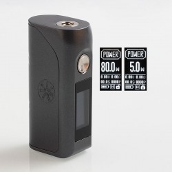 Authentic Asmodus Colossal 80W TC VW Variable Wattage Box Mod - Grey, 5~80W, 1 x 18650