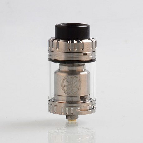 Authentic Asmodus Voluna V2 RTA Rebuildable Tank Atomizer - Silver, Stainless Steel, 3.2ml, 25mm