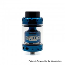 Authentic Asmodus Dawg RTA Rebuildable Tank Atomizer - Blue, Stainless Steel, 3.2ml, 25mm Diameter
