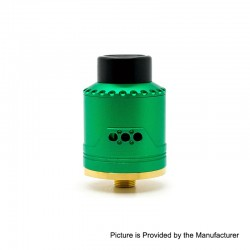 Authentic Asmodus Vice RDA Rebuildable Dripping Atomizer w/ BF Pin - Green, Stainless Steel + Aluminum, 24mm Diameter