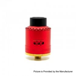 Authentic Asmodus Vice RDA Rebuildable Dripping Atomizer w/ BF Pin - Red, Stainless Steel + Aluminum, 24mm Diameter