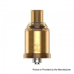 Authentic Digiflavor Etna RDA Rebuildable Dripping Atomizer w/ BF Pin - Gold, Stainless Steel, 18mm Diameter