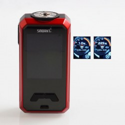 Authentic Smoant Charon Mini 225W TC VW Variable Wattage Box Mod - Red, 1~225W, 2 x 18650