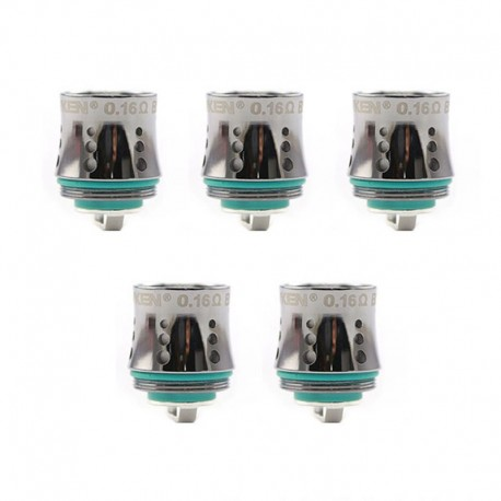 Authentic Advken Replacement Mesh Coil Head for Dominator Sub Ohm Tank / Dominator 100W Kit - 0.16 Ohm (60~80W) (5 PCS)