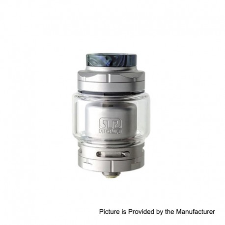 Authentic Footoon Aqua Master RTA Rebuildable Tank Atomizer - Silver, Stainless Steel + Pyrex Glass, 4.4ml, 24mm Diameter