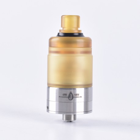 ShenRay Dome V2 Style RDTA Rebuildable Dripping Tank Atomizer - Yellow, PEI + 316 Stainless Steel, 2.8ml, 22mm Diameter