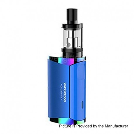 Authentic Vaporesso Drizzle Fit 1400mAh All-in-one Starter Kit - Blue, Stainless Steel, 1.8ml