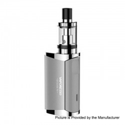 Authentic Vaporesso Drizzle Fit 1400mAh All-in-one Starter Kit - Silver, Stainless Steel, 1.8ml