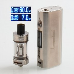 Authentic Kanger TOPBOX Mini 60W Platinum Edition TC VW Mod + TOPTANK Mini Kit - Silver, 7~60W, 1 x 18650, 4ml