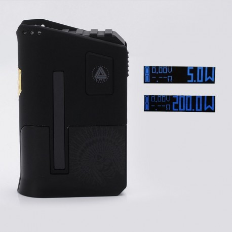 Authentic Limitless Arms Race 220W TC VW Variable Wattage Box Mod - Black, 5~220W, 2 x 18650