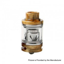 Authentic Tesla Resin Sub Ohm Tank Clearomizer - Yellow, Resin + Brass, 6ml, 0.18 Ohm, 25.5mm Diameter