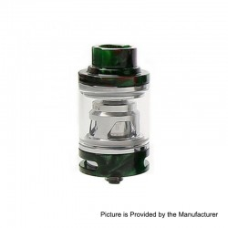 Authentic Tesla Resin Sub Ohm Tank Clearomizer - Green, Resin + Brass, 6ml, 0.18 Ohm, 25.5mm Diameter