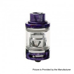 Authentic Tesla Resin Sub Ohm Tank Clearomizer - Purple, Resin + Brass, 6ml, 0.18 Ohm, 25.5mm Diameter