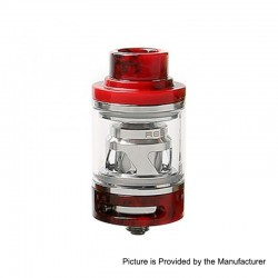 Authentic Tesla Resin Sub Ohm Tank Clearomizer - Red, Resin + Brass, 6ml, 0.18 Ohm, 25.5mm Diameter