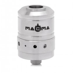 Magma Style 510 Coil Rebuildable Dripping Atomizer w/ Drip Tip -Silver, Stainless Steel