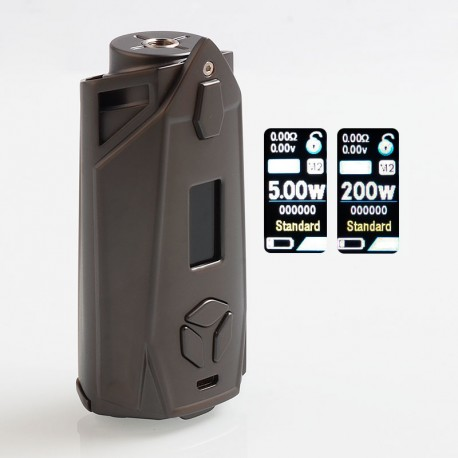 Authentic Pioneer4You IPV Xyanide 200W TC VW Variable Wattage Box Mod - Gun Metal, 10~200W, 2 x 18650