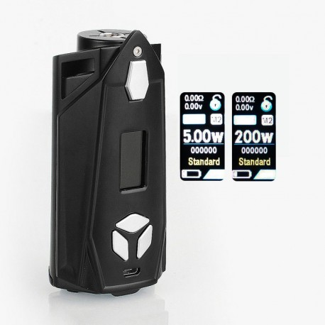 Authentic Pioneer4You IPV Xyanide 200W TC VW Variable Wattage Box Mod - Black, 10~200W, 2 x 18650