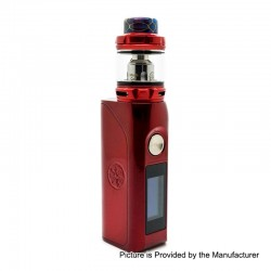 Authentic Asmodus Colossal 80W TC VW Box Mod + Wotofo Flow Pro Sub Ohm Tank Kit - Red, 5~80W, 1 x 18650, 5ml, 25mm Diameter